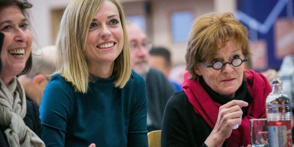 Die Escher LSAP- hier Lydia Mutsch, Taina Bofferding und Vera Spautz, hat sich vorgenommen, wieder verstärkt in der Öffentlichkeit präsent zu sein.