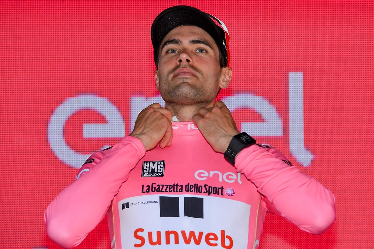 Tom Dumoulin (NL/Sunweb) führt weiter die Gesamtwertung an.