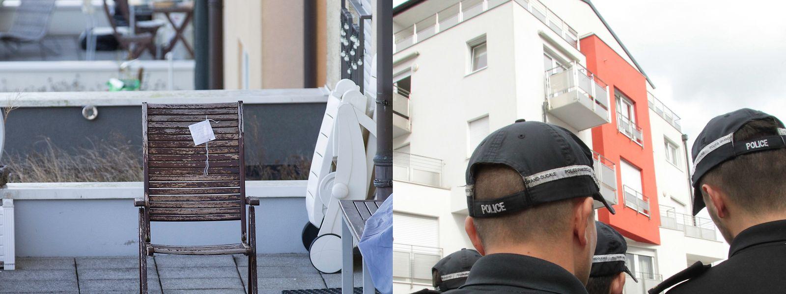 Links der Stuhl, in dem das Opfer von Fentingen saß, rechts die Dachgeschosswohnung, in der sich das Drama von Bereldingen abspielte. Während im Fall der verlorenen Kugel der beschuldigte Jäger Rechtsmittel gegen eine Anklageerhebung eingelegt hat, sind die Ermittlungen zum mutmaßlichen Doppelmord noch nicht abgeschlossen. Der tatverdächtige Polizist befindet sich weiter in U-Haft.