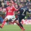Franck Ribéry, hier gegen Jean-Philippe Gbamin, erzielte den Führungstreffer für den FC Bayern.