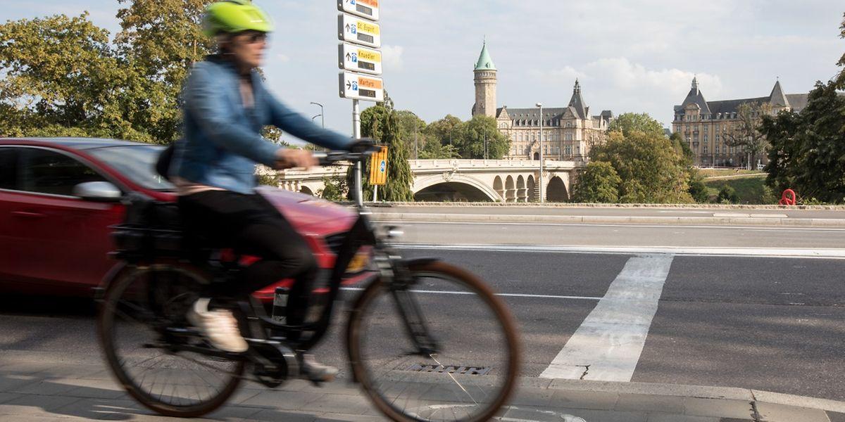 In Zukunft sollen die Radwege in der Hauptstadt, wie etwa jener an der Avenue Marie-Thérèse, sicherer gestaltet werden.