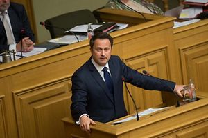 Le Premier Ministre Xavier Bettel, alors de la S�ance publique - Heure de question au Gouvernement, Affaire Bettel-Kemmer, le 19 Avril 2016. Photo: Chris Karaba