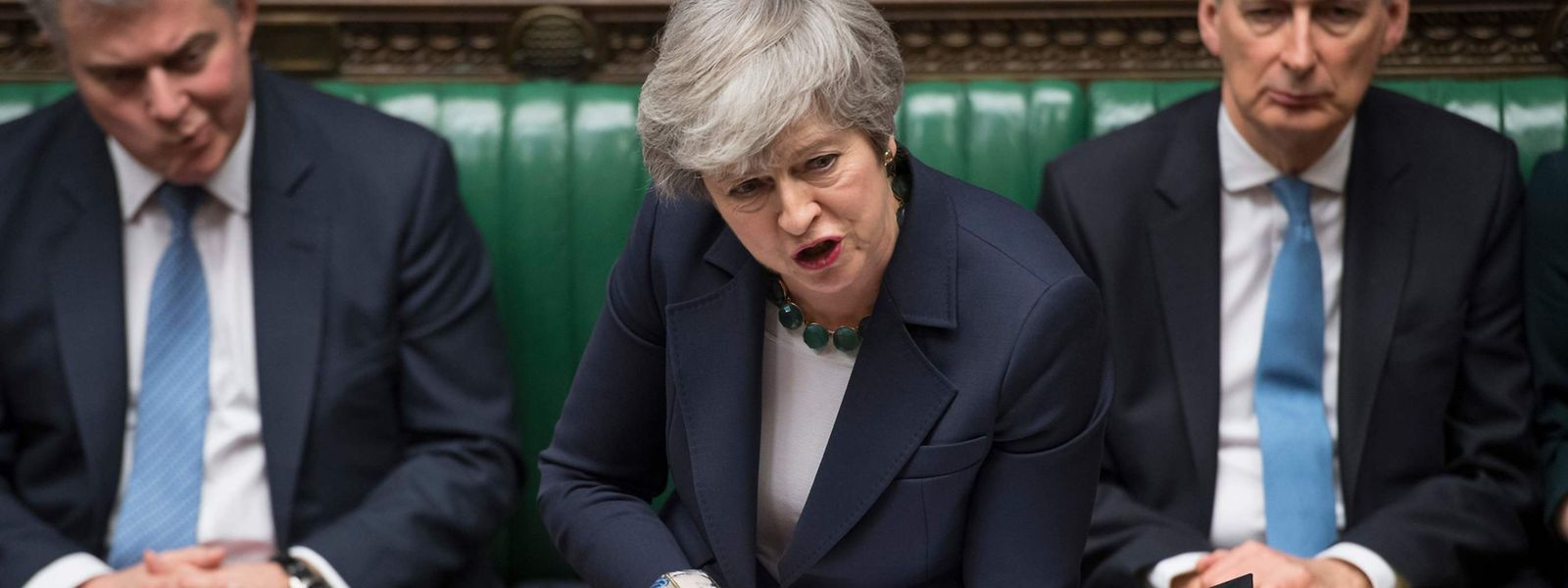 Deal or no deal? Theresa May spricht am Mittwoch im Parlament.