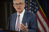 WASHINGTON, DC - MARCH 03: Federal Reserve Chair Jerome H. Powell announces a half percentage point interest rate cut during a speech on March 3, 2020 in Washington, DC.   Mark Makela/Getty Images/AFP == FOR NEWSPAPERS, INTERNET, TELCOS & TELEVISION USE ONLY ==