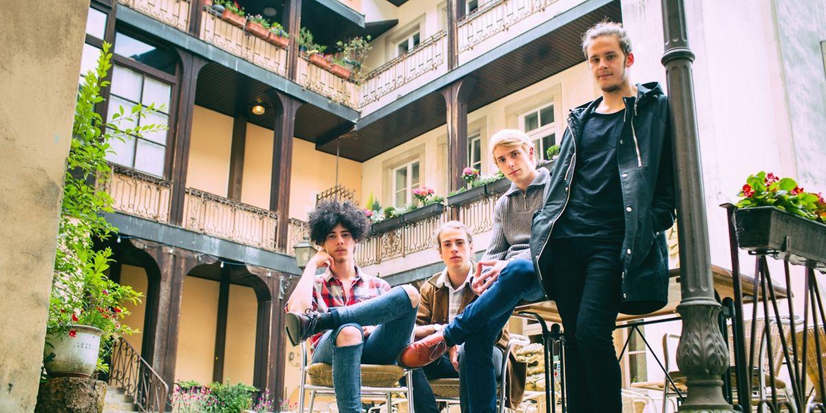 Tuys – das sind Bassist Yann, Gitarrist Tun, Drummer Kai und Sänger Sam (v.l.n.r.).