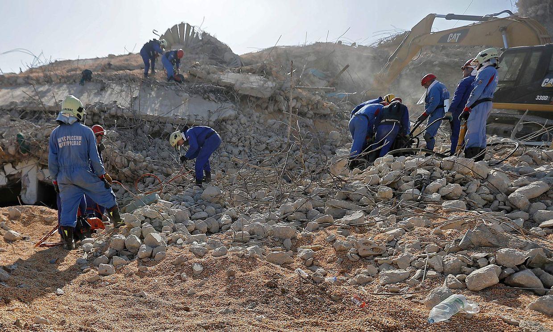 Der Hafen von Beirut liegt in Trümmern.