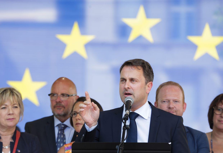 Fête de l'Europe, Xaver Bettel,  le 09 Mai 2018. Photo: Chris Karaba