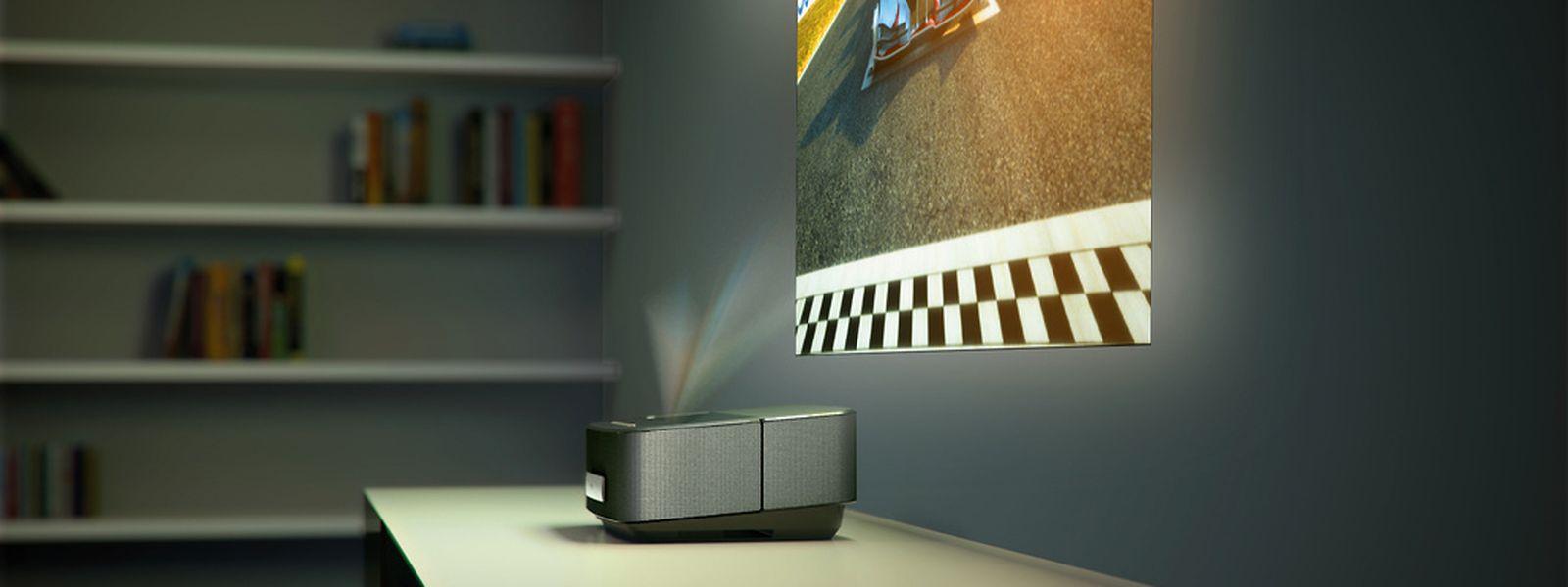 In den Philips-Screeneo-Projektoren stecken Lautsprecher, ein Netzwerk-Medienplayer und mitunter auch ein TV-Tuner.