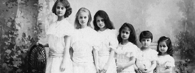 Die Prinzessin mit ihren jüngeren Schwestern.