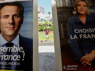 Macron oder Le Pen - das ist heute die Frage.