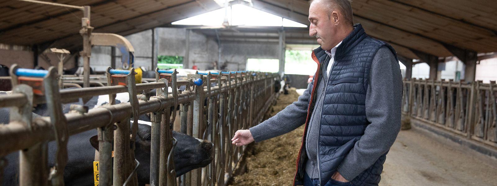 Camille Schroeder betreibt in Küntzig mit seinem Sohn einen Milchviehbetrieb mit etwa 80 Tieren. Um junge Menschen zur Übernahme zu motivieren, müsse man positiv über den Beruf reden.