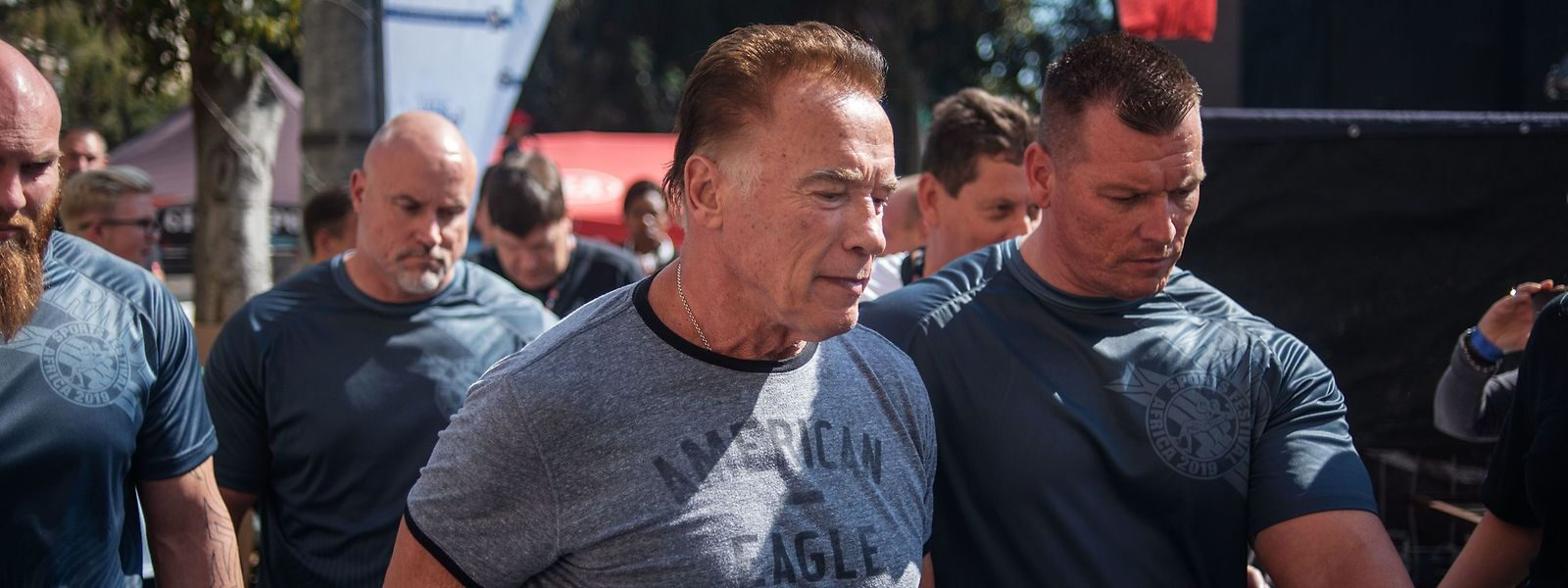 Arnold Schwarzenegger bei dem Sportevent in Südafrika.