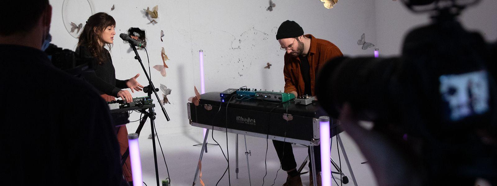 Claire Parsons et Jérôme Klein ont élu domicile le temps de l'enregistrement de trois chansons au Bâtiment IV du domaine Schlassgoart d'Esch-sur-Alzette.