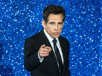 US actor Ben Stiller poses arriving to attend a screening of the film Zoolander 2 in London on February 4, 2016.  / AFP / CHRIS RATCLIFFE