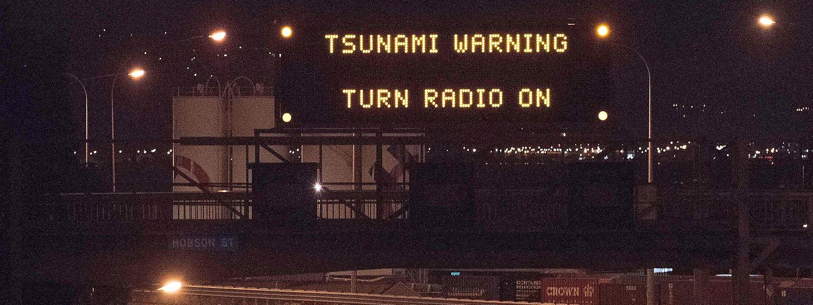 Der Zivilschutz warnt vor einem Tsunami.