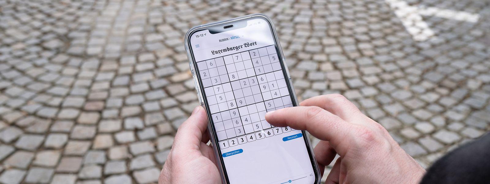 Die Rätsel wie z.B. das Sudoku können auch im sogenannten Offline-Modus – also ohne eine Internetverbindung – ausgefüllt werden.