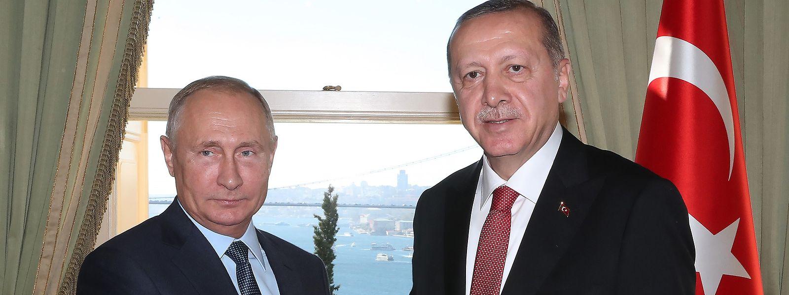 Vladimir Putin e Recep Tayyip Erdogan.