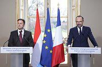 A Matignon, Xavier Bettel et Edouard Philippe ont fait le point sur les relations bilatérales.