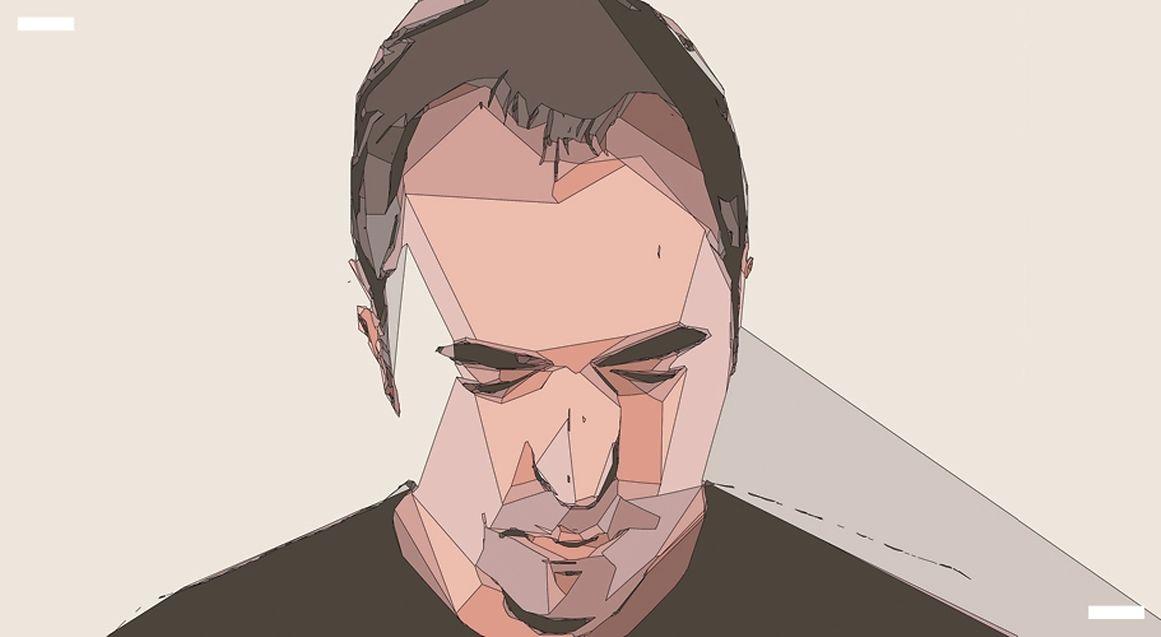 Vektorgrafik-Linien bestimmen die Ästhetik des Designs um das neue Album -  inklusive des Künstlerporträts.
