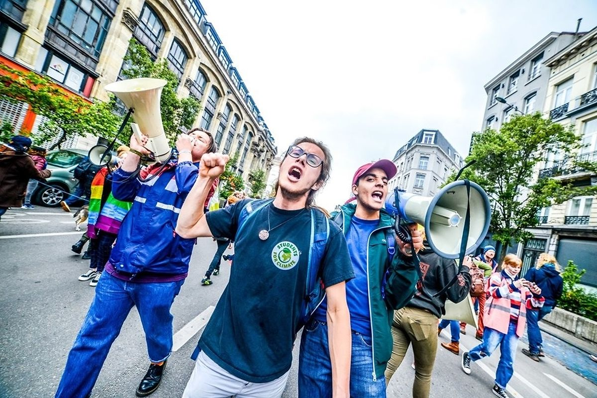Yuni Mertens o rosto do Students For Climate, na Bélgica