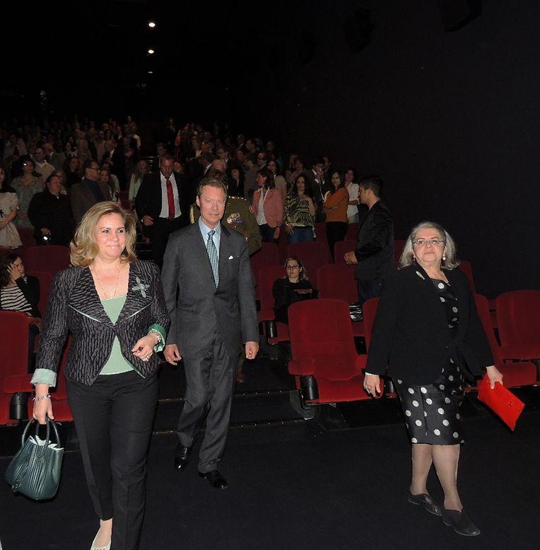 O Grão-Duque Henri e a Grã-duquesa Maria Teresa não faltaram à abertura do festival