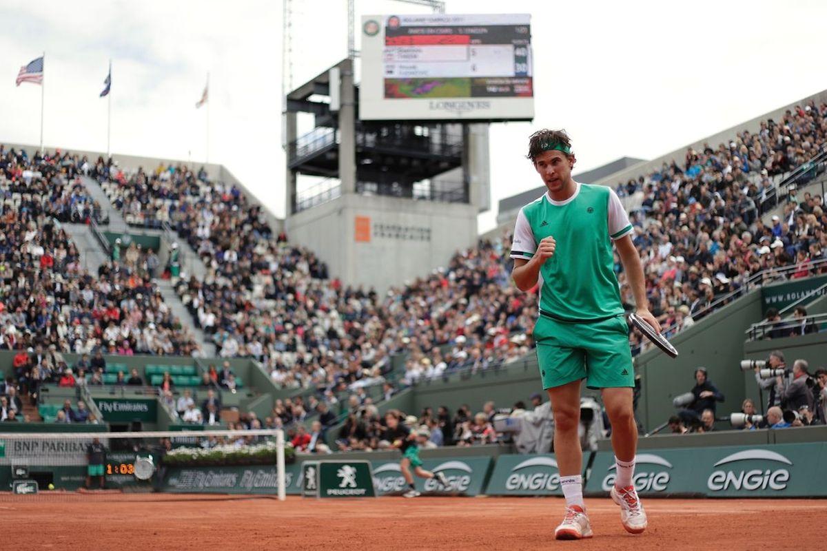 L'Autrichien Dominic Thiem se dresse sur la route de Rafael Nadal en demi-finale