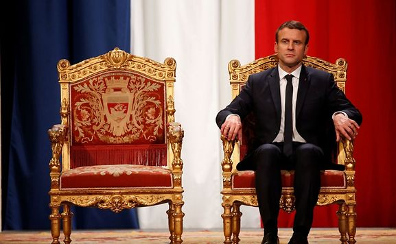 France's Macron pledges to overcome division in society