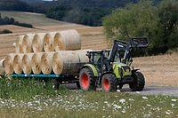 Lokales, Illustration, Bauer, Landwirt, Landwirtschaft, Heu, Heuballen, Traktor, Stroh,  Foto: Anouk Antony/Luxemburger Wort