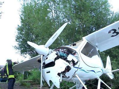 Le pilote a été lourdement blessé au moment du crash.