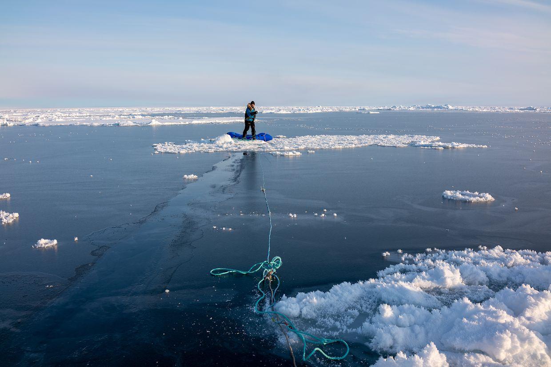 """Das arktische Eis wird während der Expedition """"Pole2Pole"""" immer dünner."""