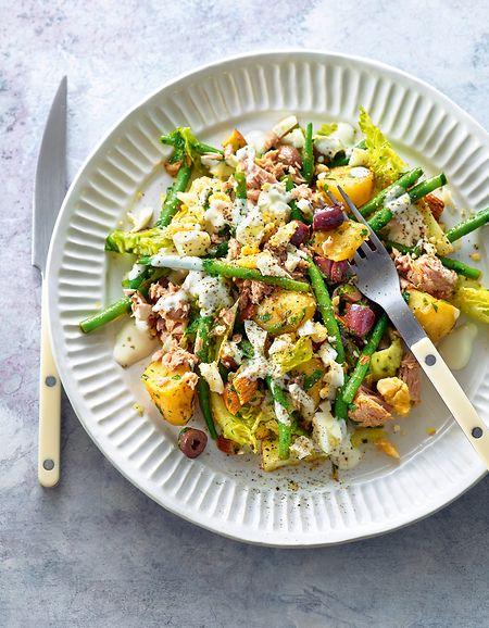 Traditionsgericht zum Jahresstart: Christians Niçoise-Salat.
