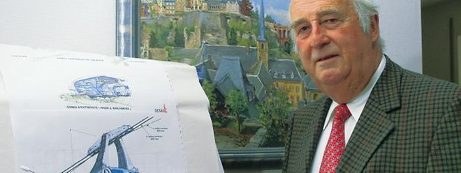 Bauingenieur Léon Nilles setzte sich für eine Seilbahn im Stadtzentrum ein.