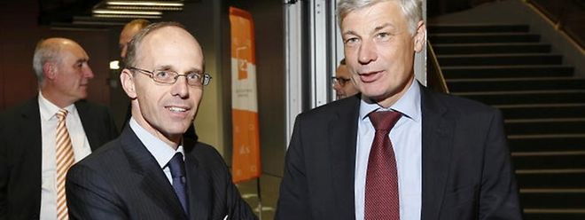 Ein politisches Comeback von Luc Frieden (l.) würde das Kräfteverhältnis in der CSV um Fraktionschef Claude Wiseler in Frage stellen.