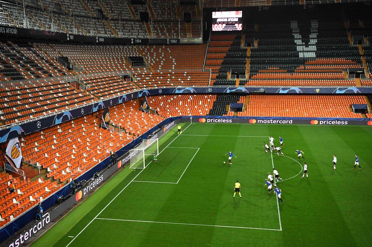 Valencia spielt in der Champions League gegen Atalanta vor leeren Ränge.