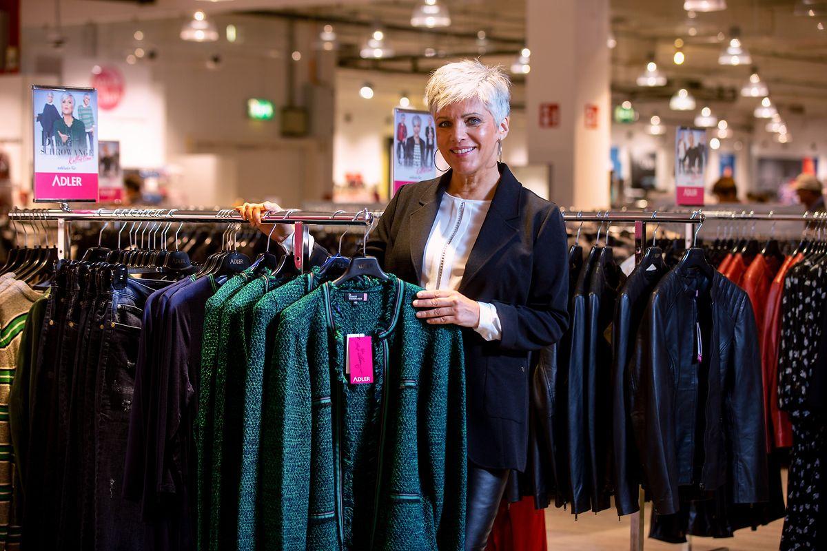 Birgit Schrowange bei der Präsentation ihrer Adler-Mode-Kollektion in Strassen.