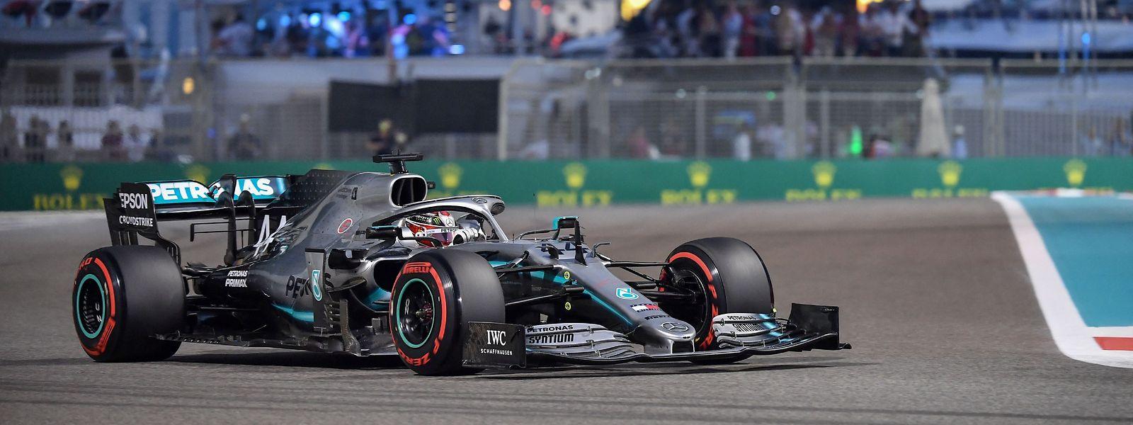 Lewis Hamilton drehte die schnellste Runde auf dem Yas Marina Circuit in Abu Dhabi.