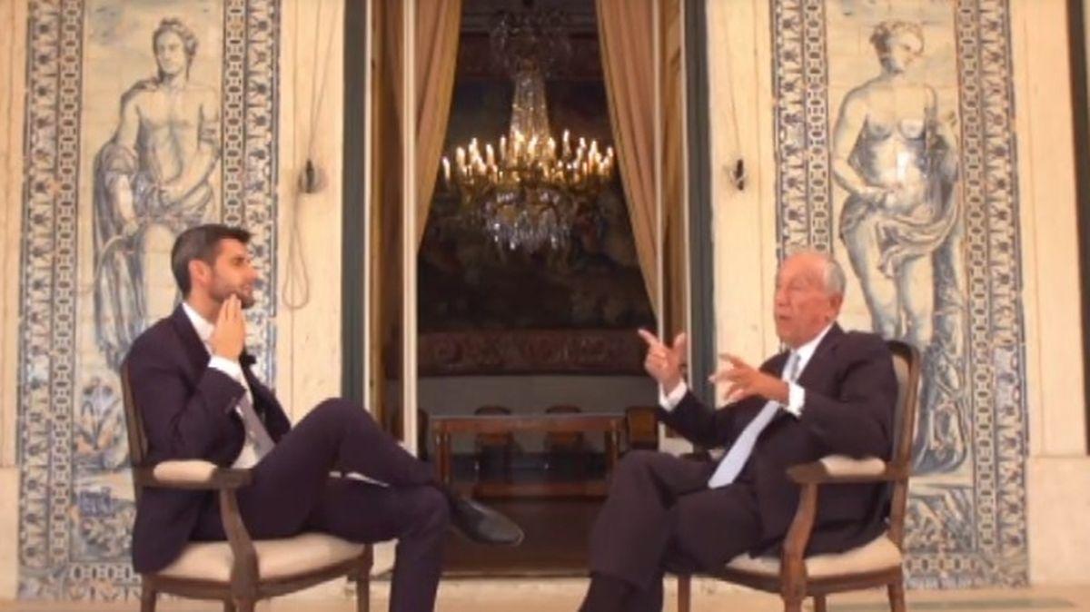 Daniel Oliveira com o Presidente da República.