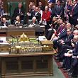 """A video grab from footage broadcast by the UK Parliament's Parliamentary Recording Unit (PRU) shows Britain's Prime Minister Theresa May making a statement in the House of Commons in London on December 10, 2018. - Theresa May told the house that the Brexit withdrawal bill will be deferred. (Photo by HO / PRU / AFP) / RESTRICTED TO EDITORIAL USE - NO USE FOR ENTERTAINMENT, SATIRICAL, ADVERTISING PURPOSES - MANDATORY CREDIT """" AFP PHOTO / PRU """""""