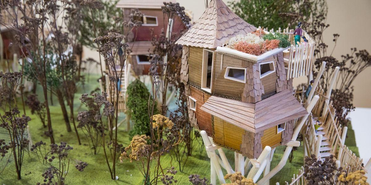 So könnten die Baumhäuser auf dem Galgenberg aussehen.