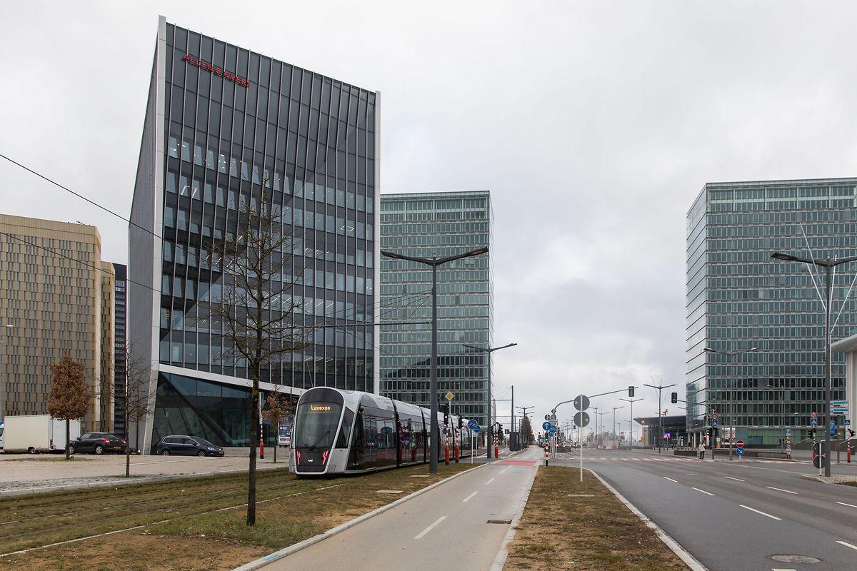 Der neue Infinity-Komplex steht neben der Tramstation Philharmonie-Mudam.
