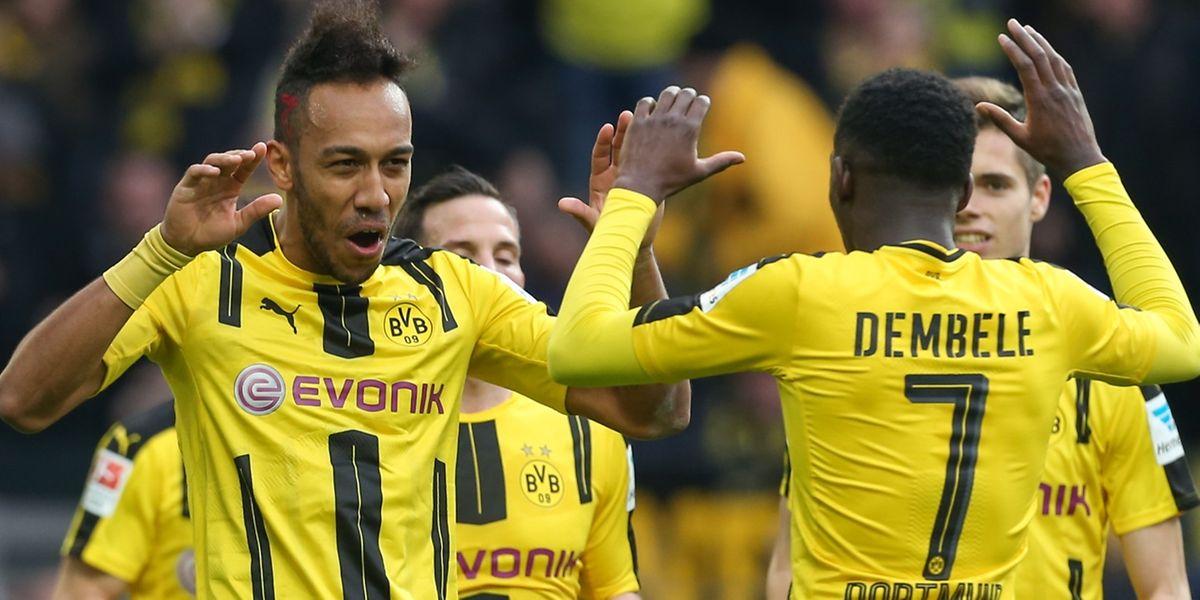 Pierre-Emerick Aubameyang et le Borussia Dortmund vont devoir refaire un retard d'un but à domicile face au Benfica Lisbonne
