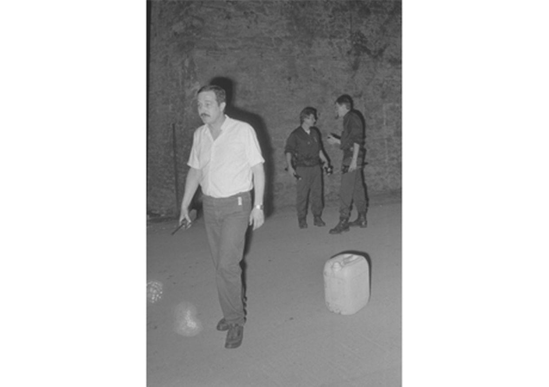 Das ist das Original-Foto vom Tatort des Anschlags in den Kasematten.
