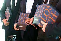 Auto-Moto- Buch präsentation Losch Luxembourg 48, Pit Reckinger, Damon Damiani, Marc Binsfeld, Pierre Ahlborn. Livre, Présentation, foto: Chris Karaba/Luxemburger Wort