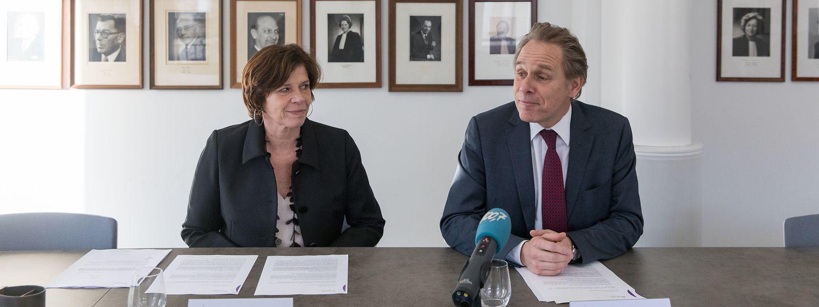 Sehen die Vorbereitung eines Angriffs auf ihren Berufsstand: Valérie Dupong, Vice-Bâtonnière, und François Prum, Bâtonnier sortant, bestehen auf den Schutz der Anonymität ihrer Klienten.