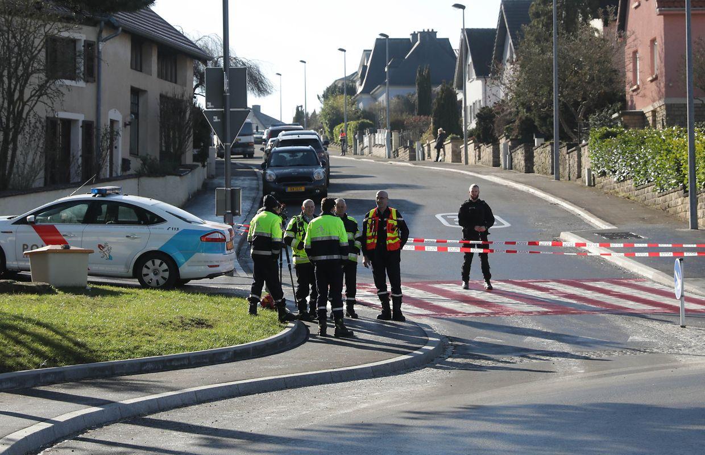 """Der """"Service de déminage"""" war im Einsatz, die Straße wurde vorübergehend gesperrt."""