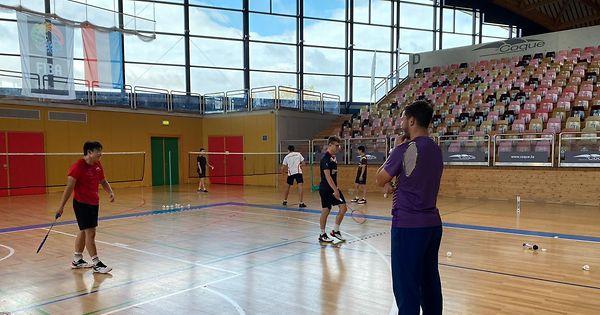 Badminton-Jungspund-auf-dem-Trainerstuhl