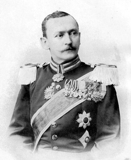 """Hermann von Wissmann (1853 - 1905), zeitgenössich bezeichnet als """"Deutschlands größter Afrikaner""""."""