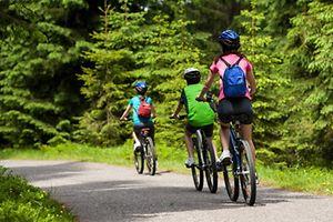 Familienausflug, Fahrradtour, Familie, Kind