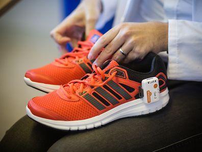 Sportschuh mit Sensoren in der Parkinsonforschung - Photo : Pierre Matgé