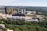 Lokales,Skyline Kirchberg,BEI,Philharmonie,Cour de Justice,Finanzplatz Luxemburg. Foto: Gerry Huberty/Luxemburger Wort